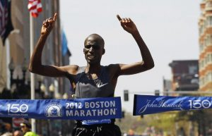 Wesley wins Boston 2012