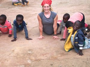 Rachel on the ground in Kenya